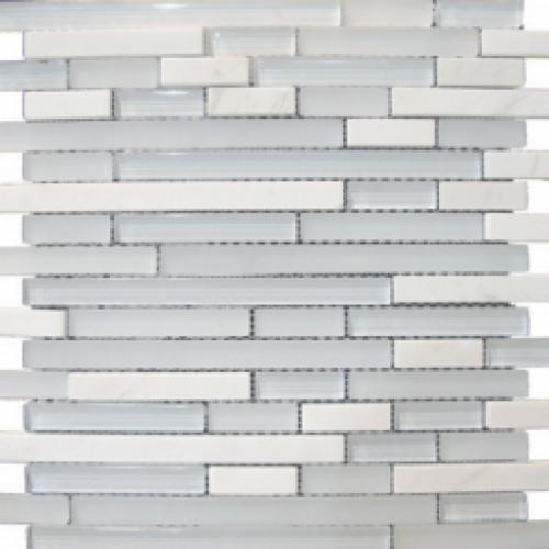 Sarana glass mosaic white