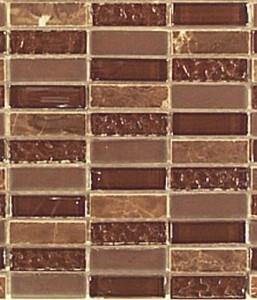 Harmony Natural Stone & Glass Chocolate